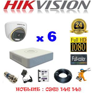 Lắp Đặt Trọn Bộ 6 Camera Hikvision 2.0Mp (Hik-263900)-HIK-263900
