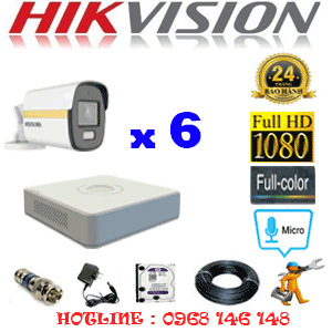 Lắp Đặt Trọn Bộ 6 Camera Hikvision 2.0Mp (Hik-264200)-HIK-264200
