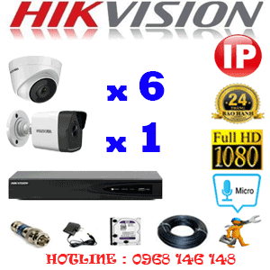 Lắp Đặt Trọn Bộ 7 Camera Ip Hikvision 2.0Mp (Hik-2649150)-HIK-2649150