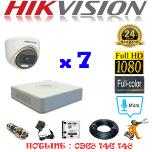 Lắp Đặt Trọn Bộ 7 Camera Hikvision 2.0Mp (Hik-274100)-HIK-274100