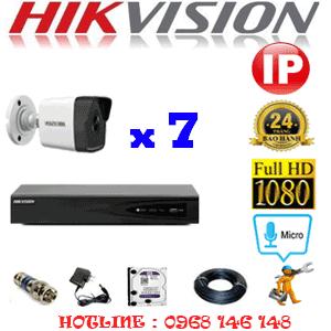 Lắp Đặt Trọn Bộ 7 Camera Ip Hikvision 2.0Mp (Hik-275000)-HIK-275000
