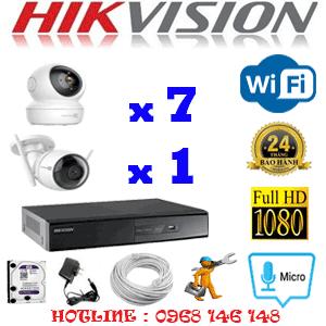 Lắp Đặt Trọn Bộ 8 Camera Wifi Hikvision 2.0Mp (Hik-2751152)-HIK-2751152
