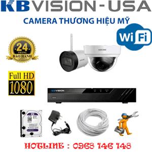 Lắp Đặt Trọn Bộ 2 Camera Wifi Kbvision 2.0Mp (Kb-2125126)-KB-2125126