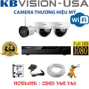 Lắp Đặt Trọn Bộ 3 Camera Wifi Kbvision 2.0Mp (Kb-2225126)-KB-2225126