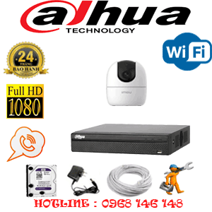 Lắp Đặt Trọn Bộ 1 Camera Wifi Dahua 2.0Mp (Dah-213900)-DAH-213900