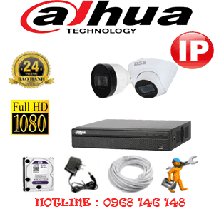 Lắp Đặt Trọn Bộ 2 Camera Ip Dahua 2.0Mp (Dah-2145146)-DAH-2145146