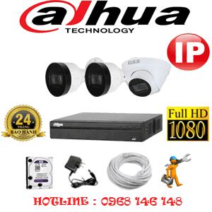 Lắp Đặt Trọn Bộ 3 Camera Ip Dahua 2.0Mp (Dah-2145246)-DAH-2145246