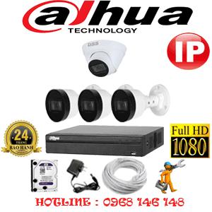Lắp Đặt Trọn Bộ 4 Camera Ip Dahua 2.0Mp (Dah-2145346)-DAH-2145346
