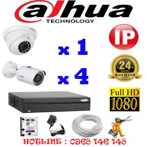 Lắp Đặt Trọn Bộ 5 Camera Ip Dahua 2.0Mp (Dah-2149450)-DAH-2149450