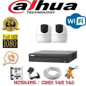 Lắp Đặt Trọn Bộ 2 Camera Wifi Dahua 2.0Mp (Dah-223900)-DAH-223900