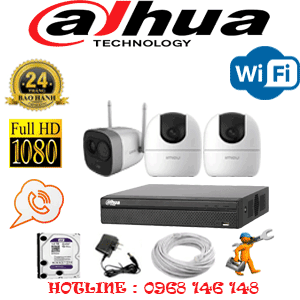 Lắp Đặt Trọn Bộ 3 Camera Wifi Dahua 2.0Mp (Dah-2239140)-DAH-2239140