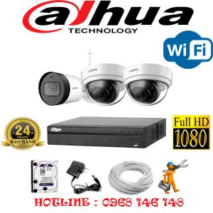 Lắp Đặt Trọn Bộ 3 Camera Wifi Dahua 2.0Mp (Dah-2241142)-DAH-2241142