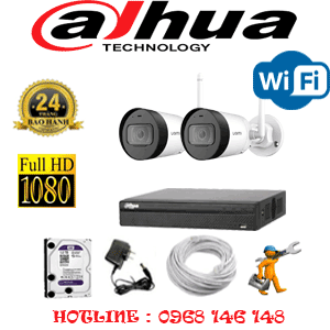 Lắp Đặt Trọn Bộ 2 Camera Wifi Dahua 2.0Mp (Dah-224200)-DAH-224200