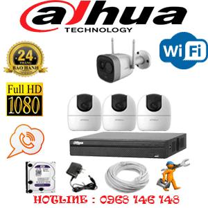 Lắp Đặt Trọn Bộ 4 Camera Wifi Dahua 2.0Mp (Dah-2339140)-DAH-2339140