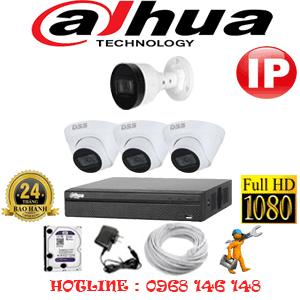 Lắp Đặt Trọn Bộ 4 Camera Ip Dahua 2.0Mp (Dah-2345146)-DAH-2345146