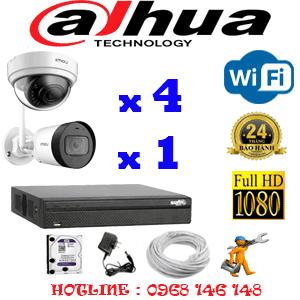 Lắp Đặt Trọn Bộ 5 Camera Wifi Dahua 2.0Mp (Dah-2441142)-KB-2441142