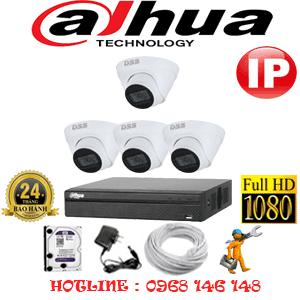 Lắp Đặt Trọn Bộ 4 Camera Ip Dahua 2.0Mp (Dah-244500)-DAH-244500