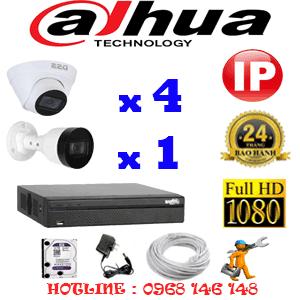 Lắp Đặt Trọn Bộ 5 Camera Ip Dahua 2.0Mp (Dah-2445146)-DAH-2445146