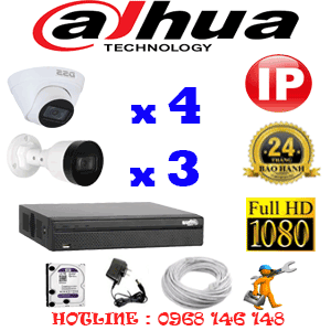Lắp Đặt Trọn Bộ 7 Camera Ip Dahua 2.0Mp (Dah-2445346)-DAH-2445346