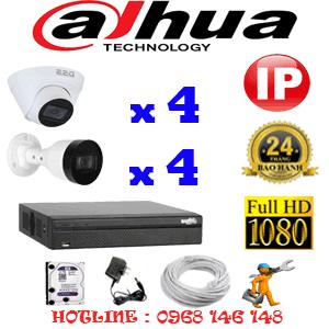 Lắp Đặt Trọn Bộ 8 Camera Ip Dahua 2.0Mp (Dah-2445446)-DAH-2445446