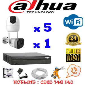 Lắp Đặt Trọn Bộ 6 Camera Wifi Dahua 2.0Mp (Dah-2539140)-DAH-2539140
