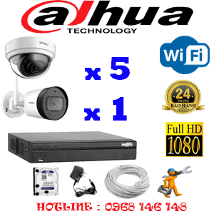 Lắp Đặt Trọn Bộ 6 Camera Wifi Dahua 2.0Mp (Dah-2541142)-DAH-2541142