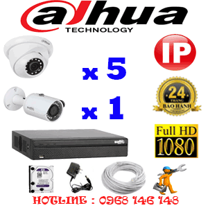 Lắp Đặt Trọn Bộ 6 Camera Ip Dahua 2.0Mp (Dah-2549150)-DAH-2549150