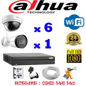 Lắp Đặt Trọn Bộ 7 Camera Wifi Dahua 2.0Mp (Dah-2641142)-DAH-2641142