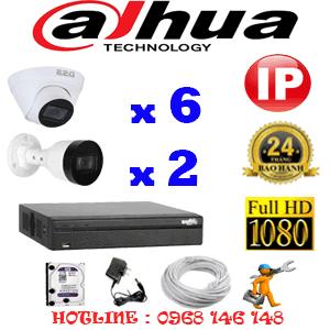Lắp Đặt Trọn Bộ 8 Camera Ip Dahua 2.0Mp (Dah-2645246)-DAH-2645246