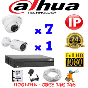 Lắp Đặt Trọn Bộ 8 Camera Ip Dahua 2.0Mp (Dah-2749150)-DAH-2749150