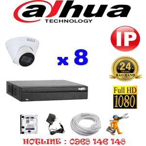 Lắp Đặt Trọn Bộ 8 Camera Ip Dahua 2.0Mp (Dah-284500)-DAH-284500