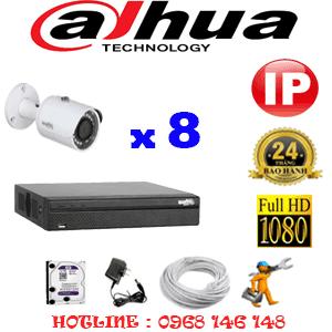 Lắp Đặt Trọn Bộ 8 Camera Ip Dahua 2.0Mp (Dah-285000)-DAH-285000