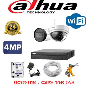 Lắp Đặt Trọn Bộ 2 Camera Wifi Dahua 4.0Mp (Dah-4143144)-DAH-4143144
