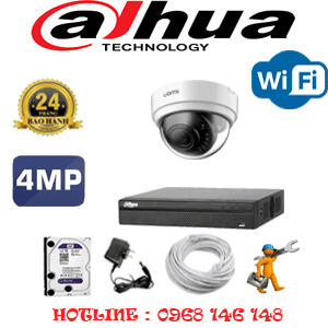 Lắp Đặt Trọn Bộ 1 Camera Wifi Dahua 4.0Mp (Dah-414300)-DAH-414300