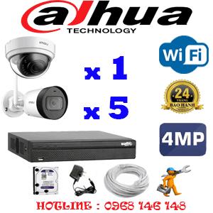Lắp Đặt Trọn Bộ 6 Camera Wifi Dahua 4.0Mp (Dah-4143544)-DAH-4143544