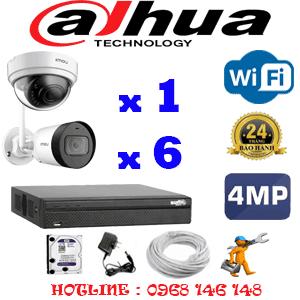 Lắp Đặt Trọn Bộ 7 Camera Wifi Dahua 4.0Mp (Dah-4143644)-DAH-4143644