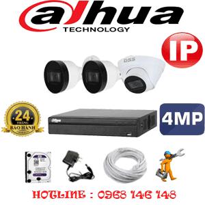Lắp Đặt Trọn Bộ 3 Camera Ip Dahua 4.0Mp (Dah-4147248)-DAH-4147248