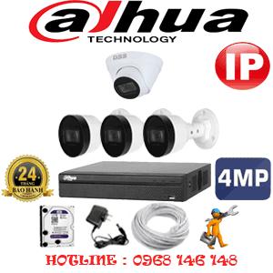 Lắp Đặt Trọn Bộ 4 Camera Ip Dahua 4.0Mp (Dah-4147348)-DAH-4147348