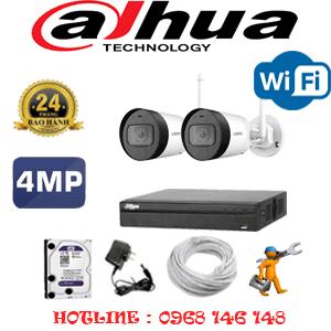 Lắp Đặt Trọn Bộ 2 Camera Wifi Dahua 4.0Mp (Dah-424400)-DAH-424400