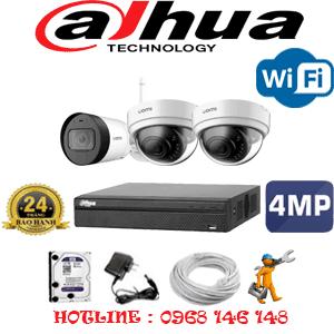 Lắp Đặt Trọn Bộ 3 Camera Wifi Dahua 4.0Mp (Dah-4243144)-DAH-4243144