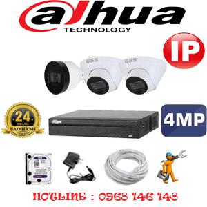 Lắp Đặt Trọn Bộ 3 Camera Ip Dahua 4.0Mp (Dah-4247148)-DAH-4247148
