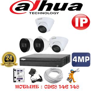 Lắp Đặt Trọn Bộ 4 Camera Ip Dahua 4.0Mp (Dah-4247248)-DAH-4247248
