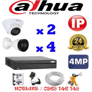 Lắp Đặt Trọn Bộ 6 Camera Ip Dahua 4.0Mp (Dah-4247448)-DAH-4247448