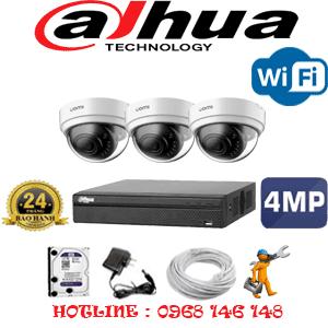 Lắp Đặt Trọn Bộ 3 Camera Wifi Dahua 4.0Mp (Dah-434300)-DAH-434300