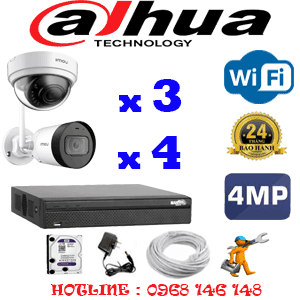 Lắp Đặt Trọn Bộ 7 Camera Wifi Dahua 4.0Mp (Dah-4343444)-DAH-4343444