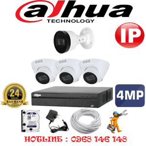 Lắp Đặt Trọn Bộ 4 Camera Ip Dahua 4.0Mp (Dah-4347148)-DAH-4347148