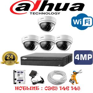 Lắp Đặt Trọn Bộ 4 Camera Wifi Dahua 4.0Mp (Dah-444300)-DAH-444300