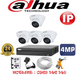 Lắp Đặt Trọn Bộ 4 Camera Ip Dahua 4.0Mp (Dah-444700)-DAH-444700