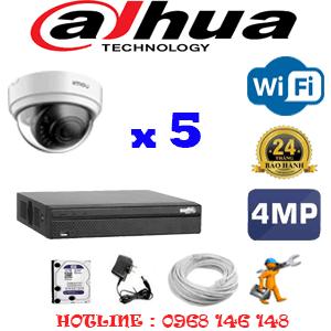 Lắp Đặt Trọn Bộ 5 Camera Wifi Dahua 4.0Mp (Dah-454300)-DAH-454300