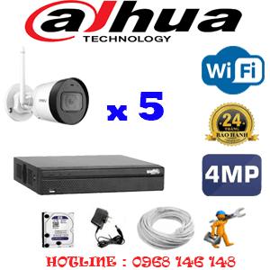 Lắp Đặt Trọn Bộ 5 Camera Wifi Dahua 4.0Mp (Dah-454400)-DAH-454400